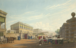 A view of the Loll Bazaar, from Opposite the House of John Palmer, Esq
